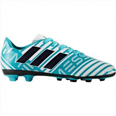 Adidas Nemeziz Messi 17.4 FxG J Fiú Gyerek Stoplis Cipő (Kék-Fehér-Fekete)  S77201 1279e2ae98