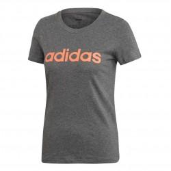 Adidas Essentials Linear Slim Tee Női Póló (Szürke-Rózsaszín) EI0696