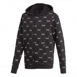Adidas Cover Up Hoodie Fiú Gyerek Felső (Fekete-Fehér) EI7911