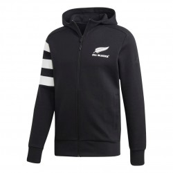 Adidas All Black Hoodie Férfi Felső (Fekete-Fehér) DN5980
