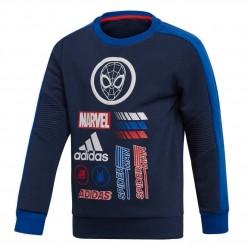 Adidas Marvel Spider Man Crew Sweatshirt Fiú Gyerek Pulóver (Sötétkék) ED6454