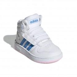 Adidas Hoops 2.0 Mid Lány Gyerek Cipő (Fehér-Kék) EE8550