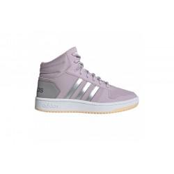 Adidas Hoops Mid 2.0 K Lány Gyerek Cipő (Szürke-Rózsaszín) EE9601