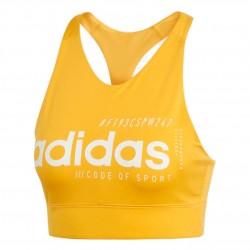 Adidas Brilliant Basic Bra Top Női Sportmelltartó (Sárga) EI0796