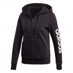 Adidas Essentials Linear Fleece Hoodie Női Felső (Fekete-Fehér) DP2417