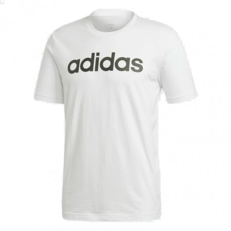 Adidas Essentials Linear Logo Tee Férfi Póló (Fehér-Fekete) DQ3056