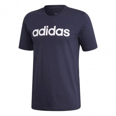 Adidas Essentials Linear Logo Tee Férfi Póló (Sötétkék-Fehér) DU0406