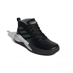 Adidas Own The Game Wide Fiú Gyerek Kosárlabda Cipő (Fekete-Fehér) EF0308