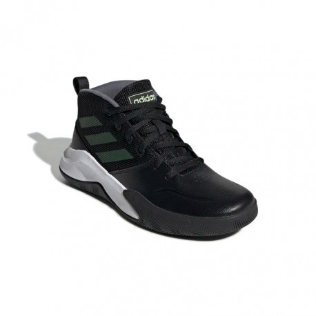 Adidas Own The Game Wide Fiú Gyerek Kosárlabda Cipő (Fekete Fehér) EF0308