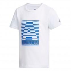 Adidas Cotton Tee Fiú Gyerek Póló (Fehér-Kék) EH4042