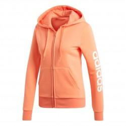 Adidas Essentials Linear Hoodie Női Felső (Barack-Fehér) EI0659