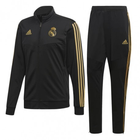 Adidas Real Madrid Suit Férfi Melegítő Együttes (Fekete Arany) DX7867