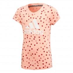 Adidas MH Graphic Tee Lány Gyerek Póló (Rózsaszín) ED4612