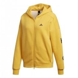 Adidas S2S SWT FZ Hoodie Női Felső (Sárga-Fekete) ED1517