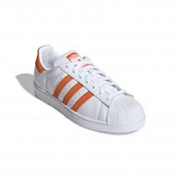 Adidas Originals Superstar Férfi Cipő (Fehér-Narancs) EE4472