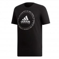 Adidas Must Haves Emblem Tee Férfi Póló (Fekete-Fehér) ED7273
