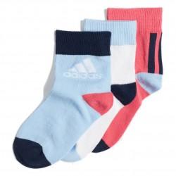 Adidas Ankle Socks 3 PP 3 Páras Gyerek Zokni (Fehér-Világoskék-Rózsaszín) ED8618