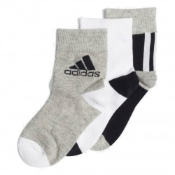 Adidas Ankle Socks 3 PP 3 Páras Gyerek Zokni (Fekete-Szürke-Fehér) ED8642
