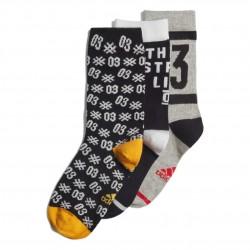 Adidas Ankle Socks 3 PP 3 Páras  Zokni (Fekete-Fehér-Szürke) ED8645