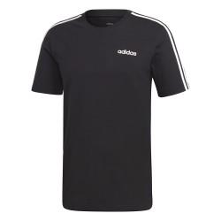 Adidas Essentials 3 Stripes Tee Férfi Póló (Fekete-Fehér) DQ3113