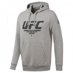 Reebok UFC Fan Gear Hoodie Férfi Pulóver (Szürke-Fekete) DU4577
