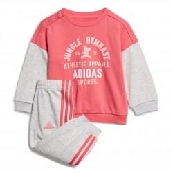 Adidas Graphic Terry Jogger Set Kislány Bébi Együttes (Rózsaszín-Szürke) ED1171