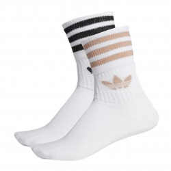 Adidas Originals Mid Cut Glitter Crew Socks 2P 2 Páras Zokni (Fehér-Barna-Fekete) ED5907
