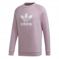 Adidas Originals Trefoil Crew Férfi Pulóver (Lila-Fehér) ED5946