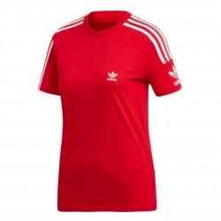 Adidas Originals 3 Stripes Tee Női Póló (Piros-Fehér) ED7531