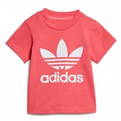 Adidas Originals Trefoil Tee Kislány Bébi Póló (Rózsaszín-Fehér) ED7682