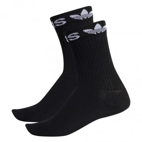 Adidas Originals Linear Cuff Crew Socks 2P 2 Páras Zokni (Fekete-Fehér) ED8729