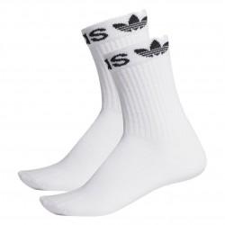 Adidas Originals Linear Cuff Crew Socks 2P 2 Páras Zokni (Fehér-Fekete) ED8730