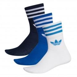 Adidas Originals Mid Cut Crew Socks 3P 3 Páras Zokni (Kék-Fehér) ED9395