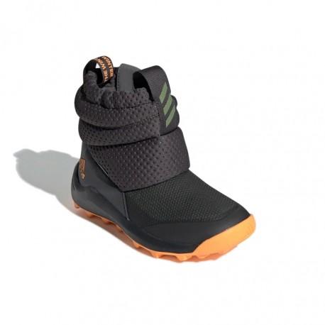 Adidas RapidaSnow C Fiú Gyerek Csizma (Szürke-Narancs) G27178