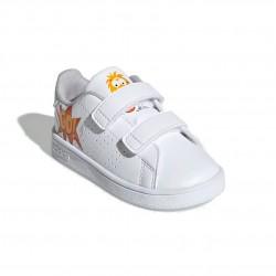 Adidas Advantage I Uniszex Gyerek Cipő (Fehér-Narancs) EF0305