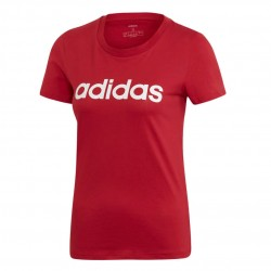 Adidas Essentials Linear Slim Tee Női Póló (Piros-Fehér) EI0697
