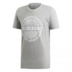 Adidas Circled Graphic Tee Férfi Póló (Szürke-Fehér) EI4609