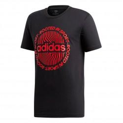 Adidas Circled Graphic Tee Férfi Póló (Fekete-Piros) EI4610