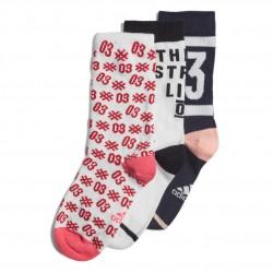 Adidas Graphic Socks 3P 3 Páras Zokni (Fehér-Sötétkék-Pink) EI6181