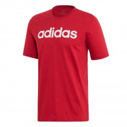 Adidas Essentials Linear Logo Tee Férfi Póló (Piros-Fehér) FI0865