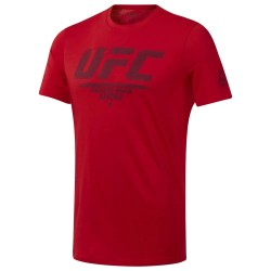 Reebok UFC Fan Gear Logo Tee Férfi Póló (Piros) DU4585