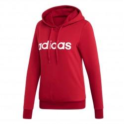 Adidas Essentials Linear Pullover Hoodie Női Pulóver (Piros-Fehér) EI0653