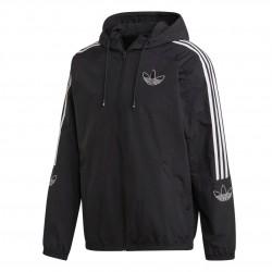 Adidas Originals Outline Windbreaker Férfi Széldzseki (Fekete-Fehér) ED4688