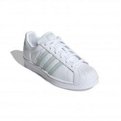 Adidas Originals Superstar W Női Cipő (Fehér-Világoszöld) EE7401