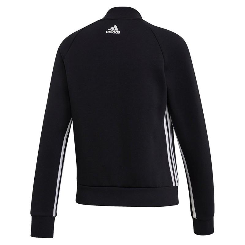 Adidas Must Haves 3 Stripes Jacket Női Felső (Fekete Fehér) DX7971