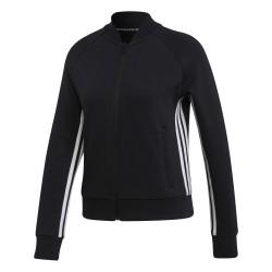 Adidas Must Haves 3 Stripes Jacket Női Felső (Fekete-Fehér) DX7971