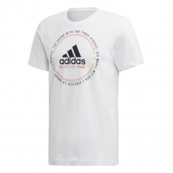 Adidas Must Haves Emblem Tee Férfi Póló (Fehér-Fekete) ED7272