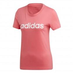 Adidas Essentials Linear Slim Tee Női Póló (Rózsaszín-Fehér) EI0699