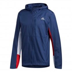 Adidas Own The Run Jacket Férfi Futó Dzseki (Kék-Fehér) ED9291