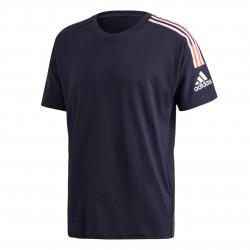 Adidas ZNE 3 Stripes Tee Férfi Póló (Sötétkék-Narancs) FI4043